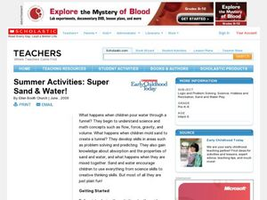 Summer Activities: Super Sand & Water! Lesson Plan