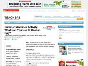 Summer Machines Activity: What Can You Use to Beat an Egg? Lesson Plan