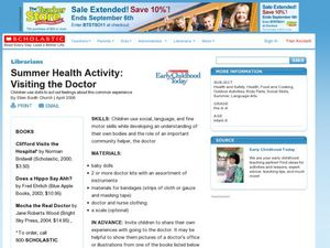 Summer Health Activity: Visiting the Doctor Lesson Plan