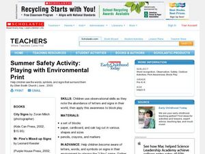 Summer Safety Activity: Playing with Environmental Print Lesson Plan