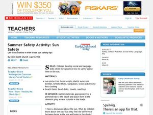 Summer Safety Activity: Sun Safety Lesson Plan