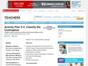 Activity Plan 3-4: Classify the Contraption Lesson Plan