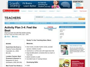 Activity Plan 3-4: Feel the Beat Lesson Plan