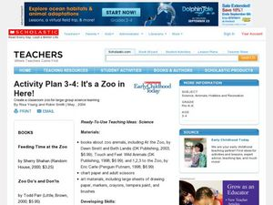 Activity Plan 3-4: It's a Zoo in Here! Lesson Plan