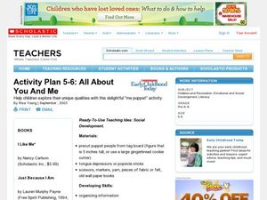 Activity Plan 5-6: All About You And Me Lesson Plan