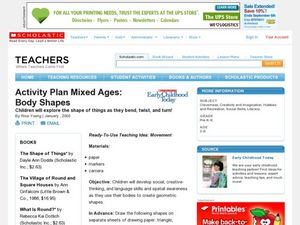 Activity Plan Mixed Ages: Body Shapes Lesson Plan