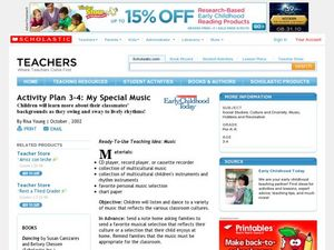 Activity Plan 3-4: My Special Music Lesson Plan