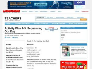 Activity Plan 4-5: Sequencing Our Day Lesson Plan
