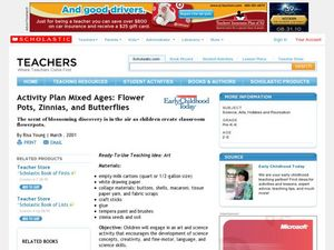 Activity Plan Mixed Ages: Flower Pots, Zinnias, and Butterflies Lesson Plan