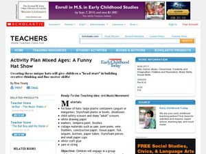 Activity Plan Mixed Ages: A Funny Hat Show Lesson Plan