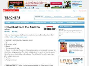 CyberHunt: Into the Amazon Lesson Plan