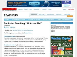 "Books for Teaching ""All About Me!"" Lesson Plan"
