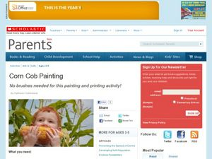 Corn Cob Painting Lesson Plan