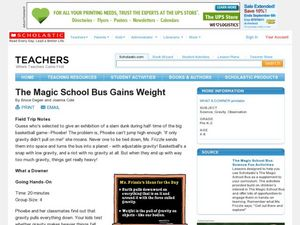 The Magic School Bus Gains Weight Lesson Plan