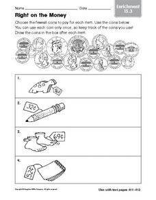 Right on the Money: Enrichment Worksheet