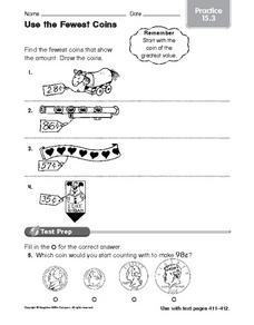 Use the Fewest Coins Worksheet
