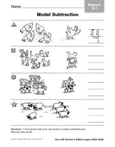 Model Subtraction: Reteach Worksheet