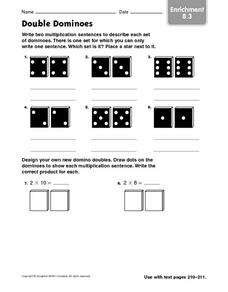 Double Dominoes: Enrichment Multiplication Worksheet