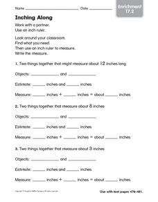 Inching Along: Enrichment Worksheet