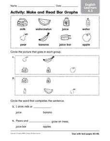 Make and Read Bar Graphs: English Learners Worksheet