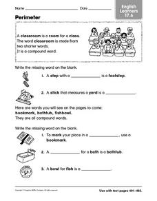 Vocabulary Activity: English Learners Worksheet