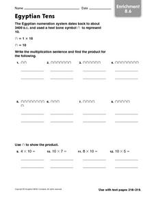 Egyptian Tens Worksheet
