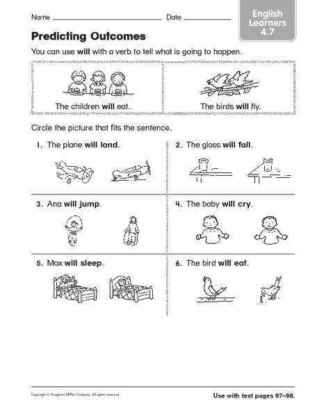 All Worksheets » Prediction Worksheets - Childern and Parenting ...
