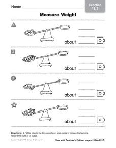 Measure Weight practice 12.3 Worksheet