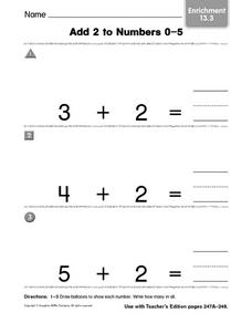 Add 2 to Numbers 0-5 Enrichment 13.3 Worksheet