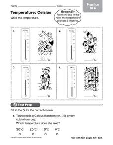 temperature celsius worksheet for 4th 5th grade lesson planet. Black Bedroom Furniture Sets. Home Design Ideas