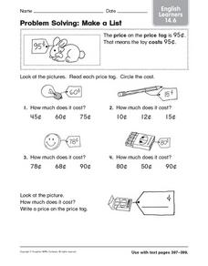 Problem Solving: English Learners Worksheet