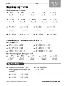 Regrouping Twice: Practice Worksheet