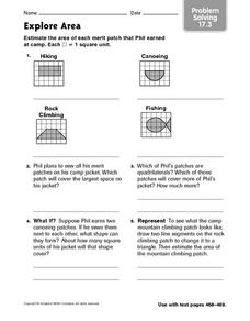 Explore Area: Problem Solving 17.3 Worksheet