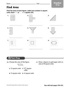 Find Area: Practice 17.4 Worksheet
