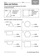 Sides and Vertices - Reteaching Worksheet