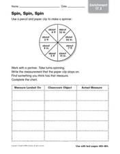 Spin, Spin, Spin - Enrichment Worksheet