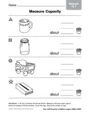 Measure Capacity - Reteach Worksheet