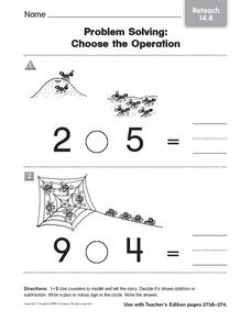 Problem Solving: Choose the Operation Reteach 14.8 Worksheet
