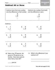 Subtract All or None: Homework 3.1 Worksheet