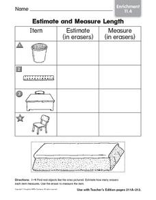 Estimate and Measure Length: Enrichment Worksheet