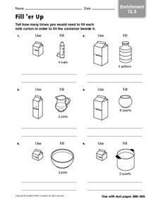 Fill 'er Up enrichment 13.5 Worksheet