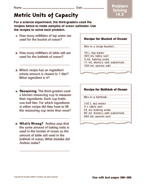 Worksheets Metric Conversion Word Problems Worksheet metric system word problems worksheet laptuoso units of capacity solving 4th 5th grade measurement worksheets