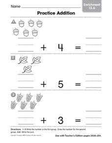 Practice Addition: Enrichment Worksheet