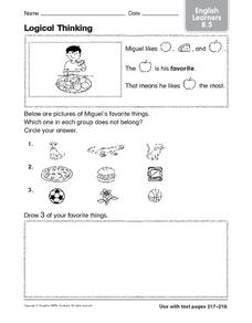 Logical Thinking: English Learners Worksheet