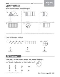 Unit Fractions: Practice Worksheet