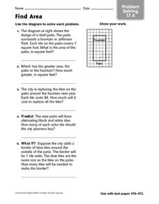 Find Area Problem Solving 17.4 Worksheet