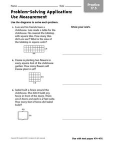 problem solving application use measurement worksheet for 4th 5th grade lesson planet. Black Bedroom Furniture Sets. Home Design Ideas