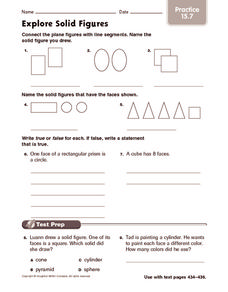 Explore Solid Figures: Practice Worksheet