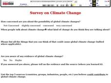 Survey on Climate Change Interactive