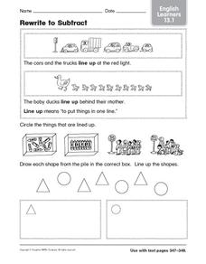 Rewrite to Subtract: English Learners Worksheet